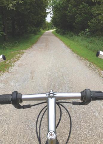 Bike on a trail