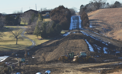 upper salt watershed dam 3-a under construction in january