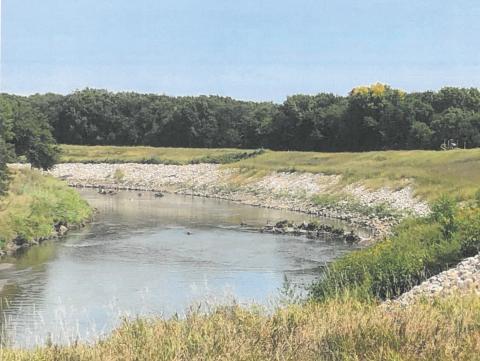 levee repair site downstream of 27th st